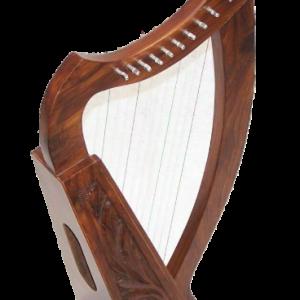 Celtic Irish Baby Harp 12 Strings Solid Wood Free Bag Strings & tuning Key