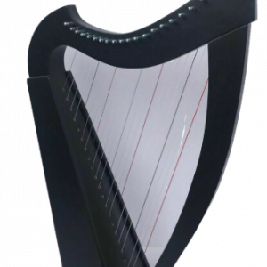 22 Strings Lever Harp Student Harp Solid Wood Black Color Free Bag, Key