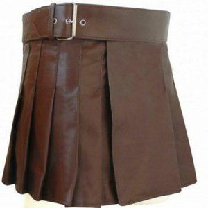 2020 Buy New leather Brown utility kilt women Scottish kilt