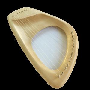 Lyre Harp 7 String Musical Instrument Pentatonic Ash Handcarved Waldorf Lyre