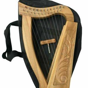 12 Strings Irish Harp, Ash Wood + Free Carry Bag & Tuning key