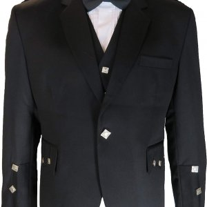 Men's Black Kilts Argyll Jacket and Vest