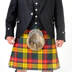 Scottish 8 Yard Buchanan Tartan Kilt Outfit