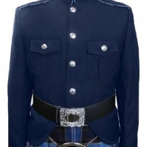 Class A Honor Guard Kilt Jacket (Navy/Medium Blue)