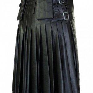 Modern Flame Leather Kilt for Men