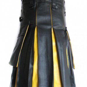 Hybrid Leather Kilt for Men