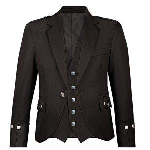 Trendy Black Kilts Argyll Jacket and waistcoat 2020