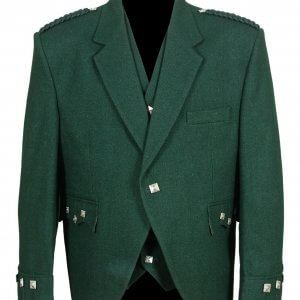 Green Argyle Kilt Traditional Jacket and Waistcoat