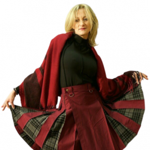 New Kilt Kiltish ladies maroon utility Scottish kilt