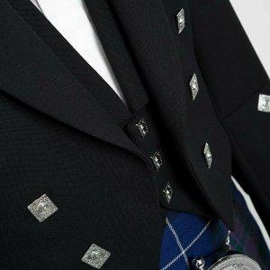 New Scottish Prince Charlie Kilt Jacket With Waistcoat/Vestcoat