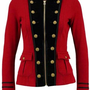 New Red Ladies Officer's Jacket Wool Coat all Braid Jacket