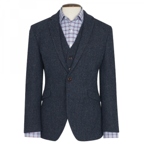New 100 % Wool Premium Mens Tweed Jacket With Waistcoat/Vest