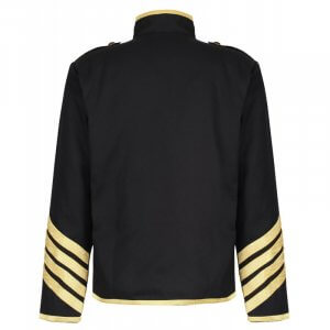 Black Gold Hussar Parade Gothic Jacket Military Drummer Steampunk