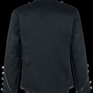 Banned Military Drummer Men Uniform Jacket Black