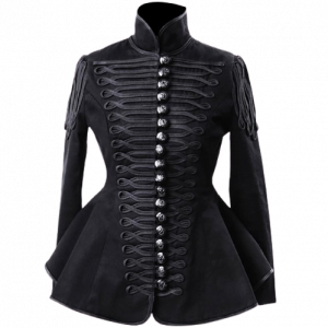 Ladies Black Hussar Military jacket,Ladies Fashion Military Coat