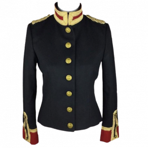 Women Wool Military hussar Jacket Army Officer Band Coat Trench Jacket