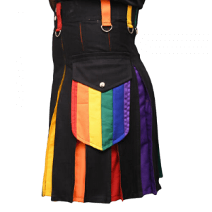 Hybrid Scottish LGB Gay Pride kilt Modern kilt men Utility kilt