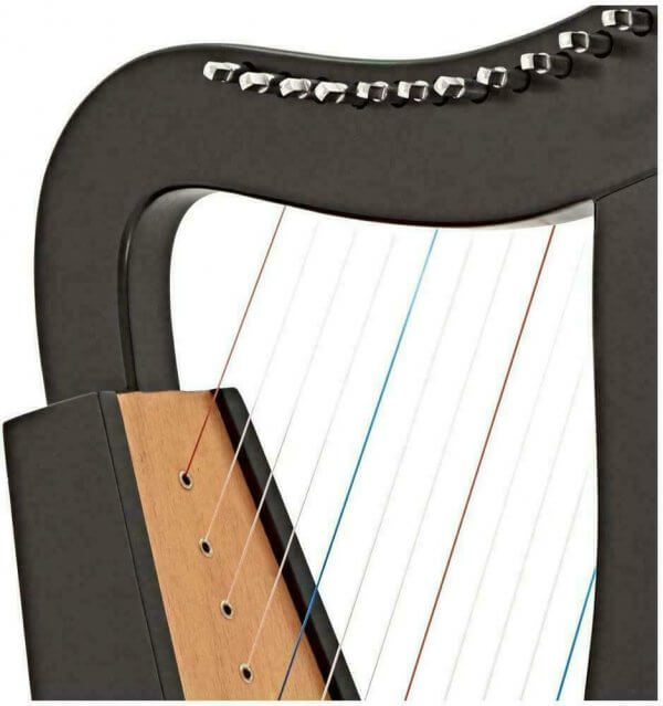 12 String Black Celtic Harp, Rosewood Irish Engraved Harp, and Free Black Bag  Substantially built Celtic harp and an excellent first choice for the beginner or student player. It is constructed from rosewood,12 nylon strings,   This harp is nylon strung and supplied with a padded bag, tuning key & an extra set of strings. Note: BUYER is Responsible for clearance of customs hold Parcel. ALL CUSTOM DUTY WILL BE PAID BY THE BUYER.   Specifications- Height: 50 cm Width: 28 cm Depth: 18 cm Weight: 8.15 KG ( 8150 gram )  Our Products  We only sell brand new products. All our Musical instruments are of professional quality. And we are certified manufacturers. we do not sell cheap hobby tools as all instruments are made of High-Quality Wood and crafted by highly skilled Carpenter.  We are Manufacturer We Will Make Bulk Quantity Order!  we deliver worldwide except Israel  Feedback  Once you receive your product in a timely manner then we expect to receive your 5-star rating. We always ask our customers to contact us if they are not happy either with their order or in case of any problem so we get it right before you leave negative feedback.