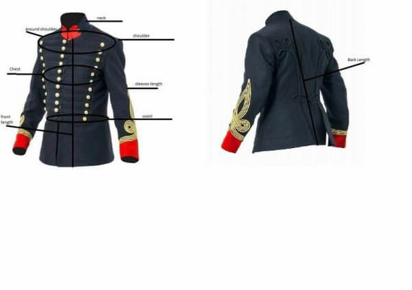British Hussars Tunic Modern Day British Napoleonic War Uniforms Civil War Wool