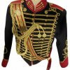 New 5 pcs men's Black Jacket Ceremonial Hussar Officers with Aiguillette