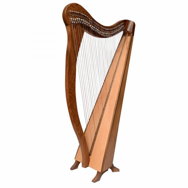 36 string Ard Ri Harp, Celtic Irish Harp, Irish full size lever harp
