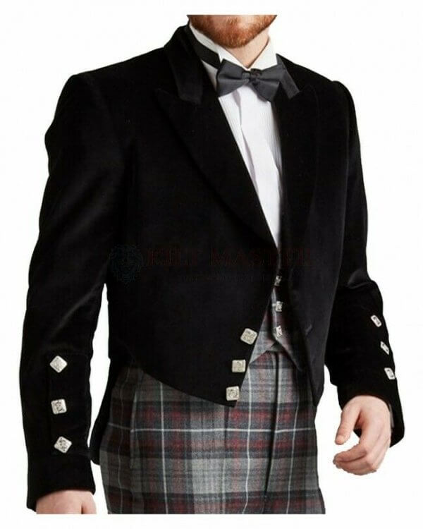 "24/"" - 56/"" New Style Handmade Scottish Argyle kilt Jacket /& 5 Buttons Waistcoat"