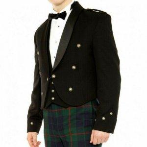 Irish Brian Boru Kilt Jacket & Waistcoat Custom Made Prince Charlie Kilt Jacket