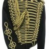 Men's Hussar Black Military Jacket With Gold Cord Braids