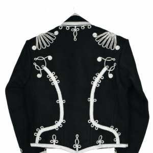 Hussar Jacket Size Small Coat Black Top Military Uniform Tunic