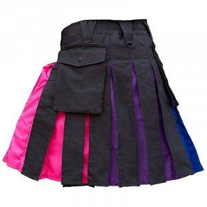 Pride Hybrid Kilt Custom Made Scottish Rainbow Kilts