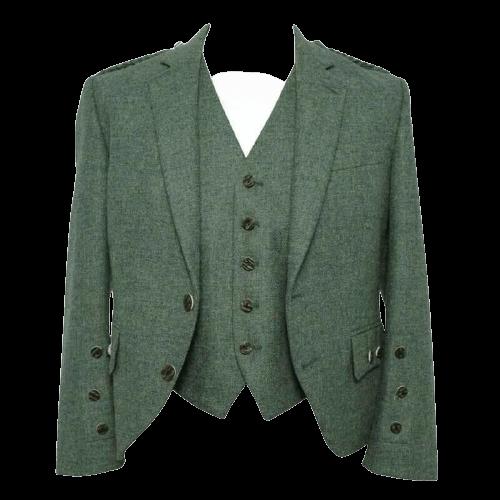 Green Tweed kilt Jacket and WaistCoat